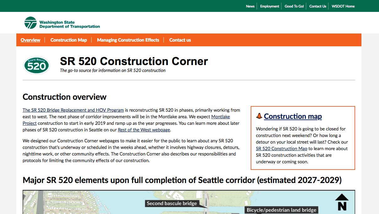 Image of construction corner online tool.